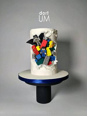 Lego Justice League - Cake by dortUM