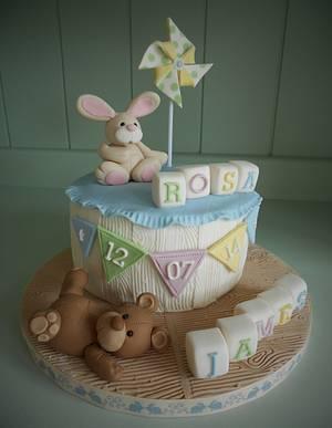 Christening Cake for James & Rosa - Cake by Little Aardvark Cakery