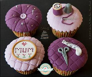Cross stitch cupcakes for Mother's Day - Cake by Cakes By No More Tiers (Fiona Brook)