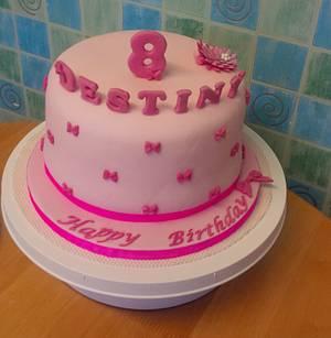 Pink Bowtiful Cake - Cake by IDreamOfCakes