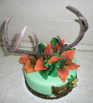 WOOD -  antlers - Cake by cicapetra