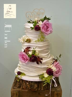 summer wedding cake - Cake by Judith-JEtaarten