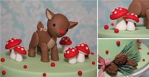 Woodland Themed Rudolph Cake - Cake by CakeAvenue