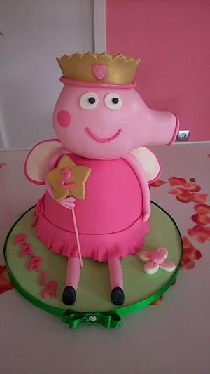 Peppa pig cake - Cake by silvia Valdearenas