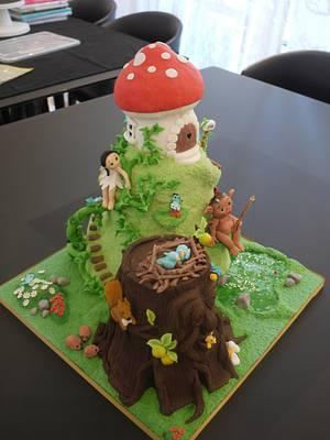 Enchanted forest cake - Cake by Galatia