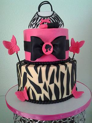 zebra and pink - Cake by Cakes and Cupcakes by Monika