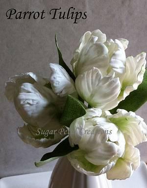 Sugarpaste/Gumpaste Parrot Tulips  - Cake by Anne Cutajar-Wagner