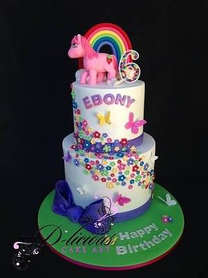 My Little Pony Themed Cake - Cake by D-licious Cake Art