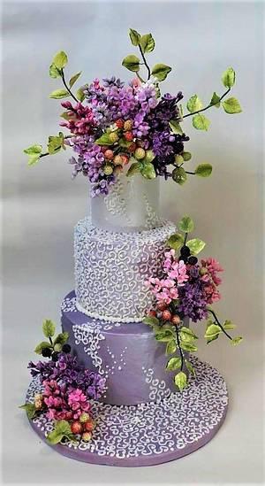Lilac cake - Cake by WorldOfIrena