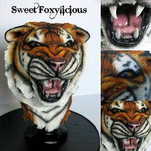 Suma the Roaring Tiger - Cake by Sweet Foxylicious