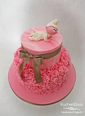 Smurf Baby Shower Cake - Cake by KuchenDiva