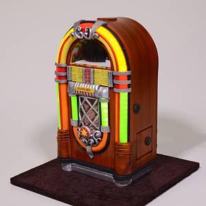 3D Jukebox Cake - Cake by Serdar Yener   Yeners Way - Cake Art Tutorials