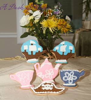 Pirate & Princess Tea Party Cookies - Cake by A Dash of Magic