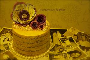 Love letters and Memories - Cake by Donna