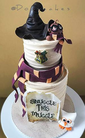Snuggle this Muggle - Cake by Dozycakes