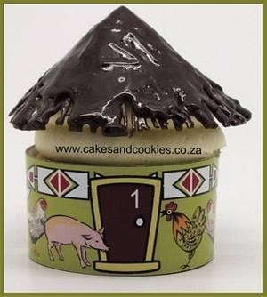 Zulu Hut Cupcake  - Cake by Terry