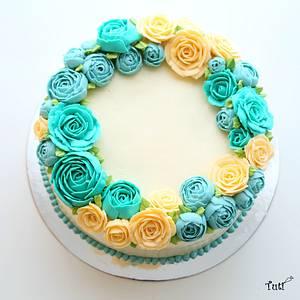 Buttercream flower cake - Cake by tuti