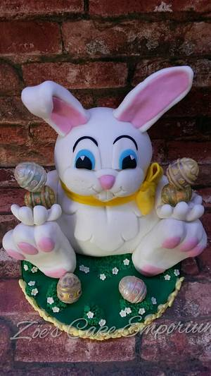 'The Happy Bunny' CPC Easter Collaboration - Cake by ZoesCakeEmporium