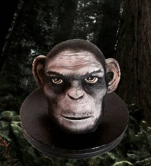 Dawn of the planet of the apes  - Cake by Allison Henry