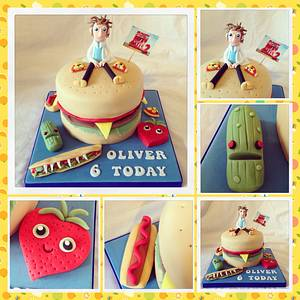 Cloudy with a chance of meatballs cake - Cake by Emma lewis