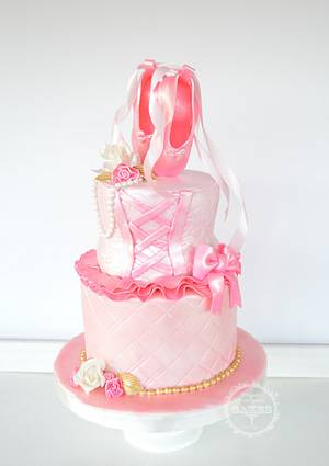 Sweet in pink Ballerina  - Cake by Maria Cazarez Cakes and Sugar Art