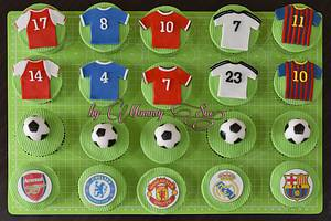 Football Themed Cupcakes! - Cake by Mommy Sue