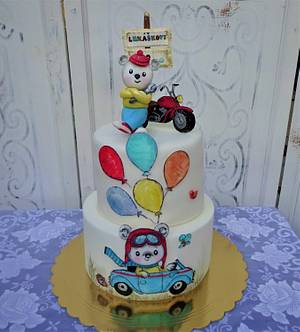 Teddy bear and the toy car - Cake by Daphne