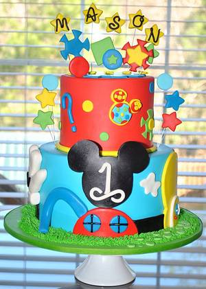 Mickey Mouse Clubhouse Cake - Cake by Hope Crocker
