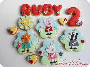 Peppa Pig Cookie Set - Cake by Cookie Delicious