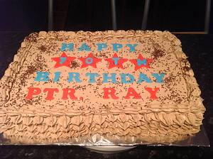 70th birthday Mocha Sponge Cake - Cake by Sweet Creative Cakes by Jena