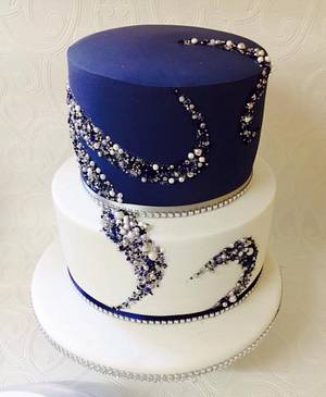 Beaded cakes dessert table  - Cake by Missyclairescakes