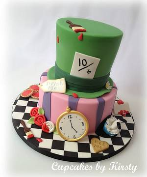 Alice in Wonderland  - Cake by Kirsty