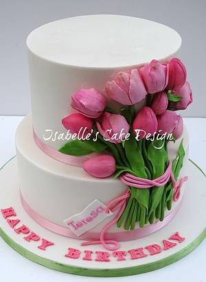 Spring Tulips - Cake by The Rosehip Bakery