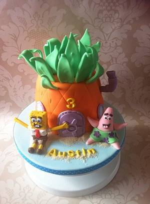 Who lives in a pineapple...... - Cake by Carrie