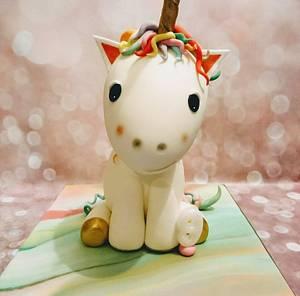 Rainbow unicorn cake plus more - Cake by Clairey's Cakery