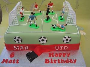 Football pitch cake - Cake by Deborah Cubbon (the4manxies)