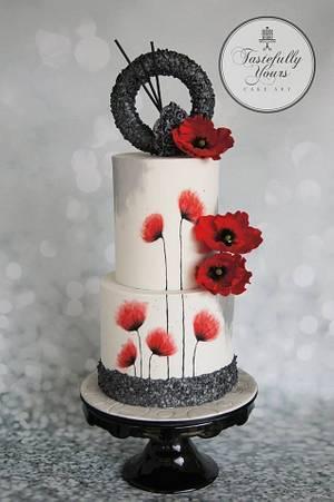 The poppy cake - Cake by Marianne: Tastefully Yours Cake Art