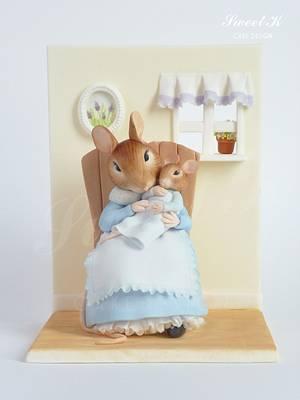 Beatrix Potter Mice - Cake by Karla (Sweet K)