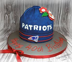 Patriots fan birthday cake! - Cake by CuriAUSSIEty  Cakes