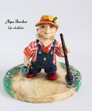 Mr McGregor. Peter rabbit project  - Cake by Alyaa sharshar