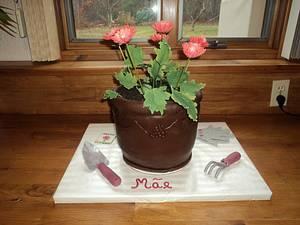 Flower Pot Birthday Cake - Cake by Goreti