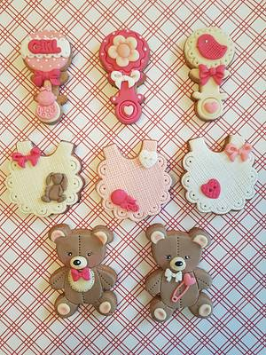 Baby shower cookies  - Cake by DI ART