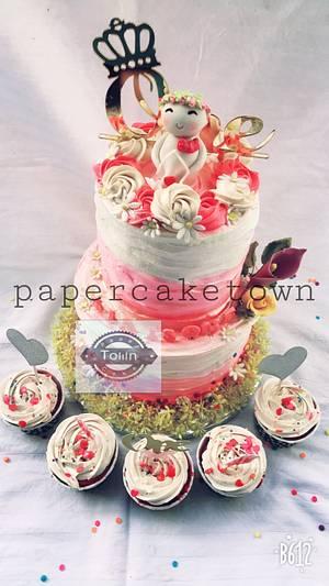 Birthday cake for a one year old princess - Cake by sheenam gupta