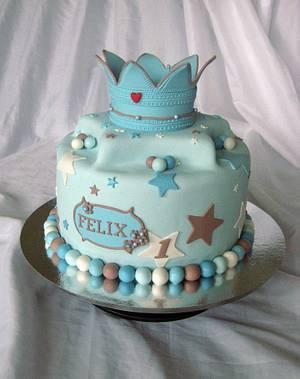 Happy 1.th birthday.  - Cake by Trine Skaar