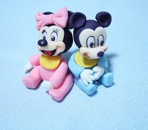 mickey&minnie - Cake by fantasticake by mihyun