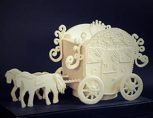 royal wagon , cpc kissing frogs  - Cake by Bloom cake by rasha