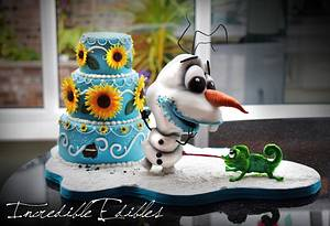 Frozen Party Time! - Cake by Vicki's Incredible Edibles