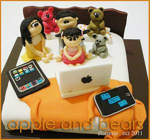 Apple and Bears - Cake by Diana
