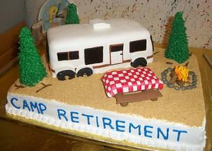 RV Retirement Cake - Cake by Tracy's Custom Cakery LLC