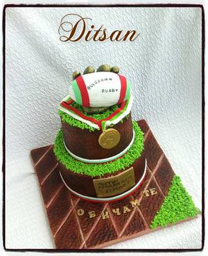 Rugby Cake - Cake by Ditsan